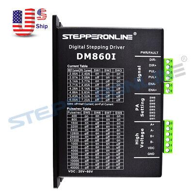 Digital Stepper Motor Driver 2.4-7.2a 36-110vdc Dm860i For Nema 34 Stepper Cnc