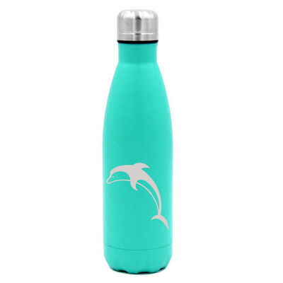 17 oz Double Wall Vacuum Insulated Stainless Steel Water Bottle Dolphin