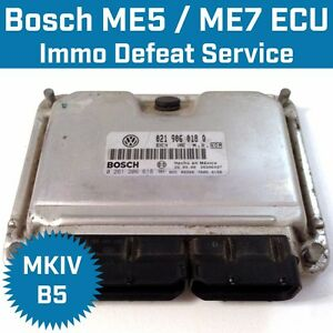 Immobilizer Defeat Service for BOSCH ECU ECM ME7 ME5 MK4 VW Audi Immo Delete Off