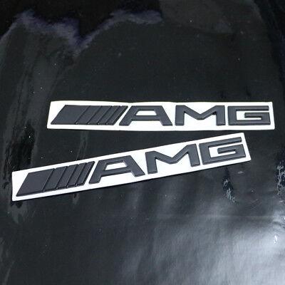 2PCS Black 6.3 AMG Chrome Metal Badge Emblem Sticker Decal e63 suv c63 Motor s63