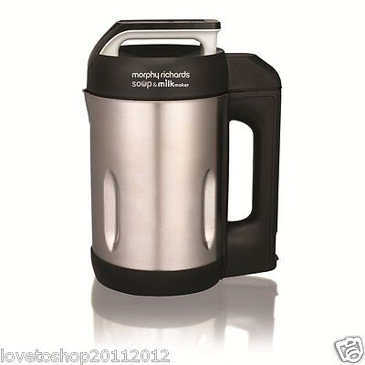 Morphy Richards Soup And Milk Maker 1.6 Litre In Stainless Steel 501000