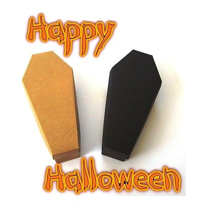 Coffin Favour Box, Gothic Wedding. Trick or Treat Halloween Box for Sweets (Halloween Treats Sweets)