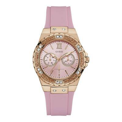 Guess W1053L3 Limelight Crystal Rose-Gold Tone Pink Quartz 39mm Women's Watch