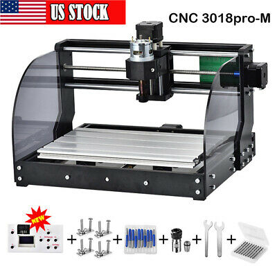 Cnc 3018pro-m Diy Mini Cnc Machine Wood Router Laser Engraving Milling Machine
