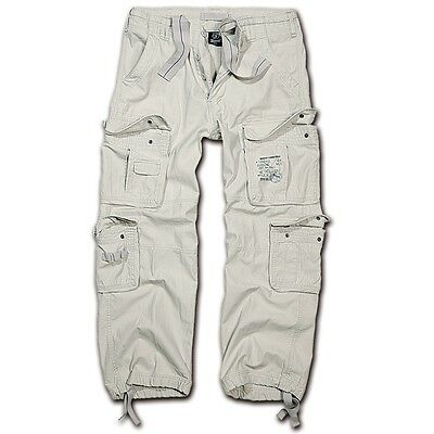 Brandit - Pure Vintage Trouser Old White Weiß Cargohose Outdoor Army Armeehose  - White Cargo