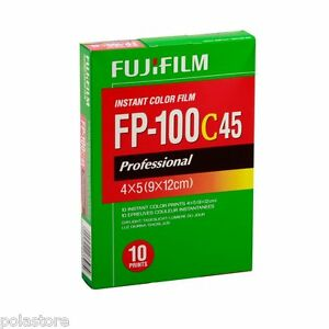 Fuji FP-100C45 4x5 Instant Color Film Fujifilm 4 packs 40 exp. 7/2014 FP-100C
