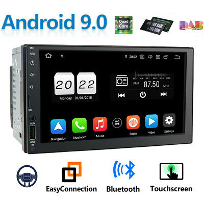 Android 9.1 HD 2-DIN 7 Inch Car In-Dash Stereo Radio USB AUX MP3 GPS Navi FM/AM