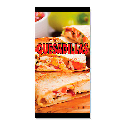 Quesadillas Food Fair Restaurant Cafe Market  Decal Sticker Retail Store Sign