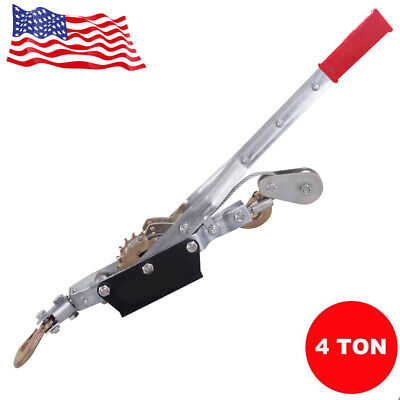 4 Ton 8000lb Hand Puller Cable Puller Pulling Hand Power Winch Hoist Usa Ship