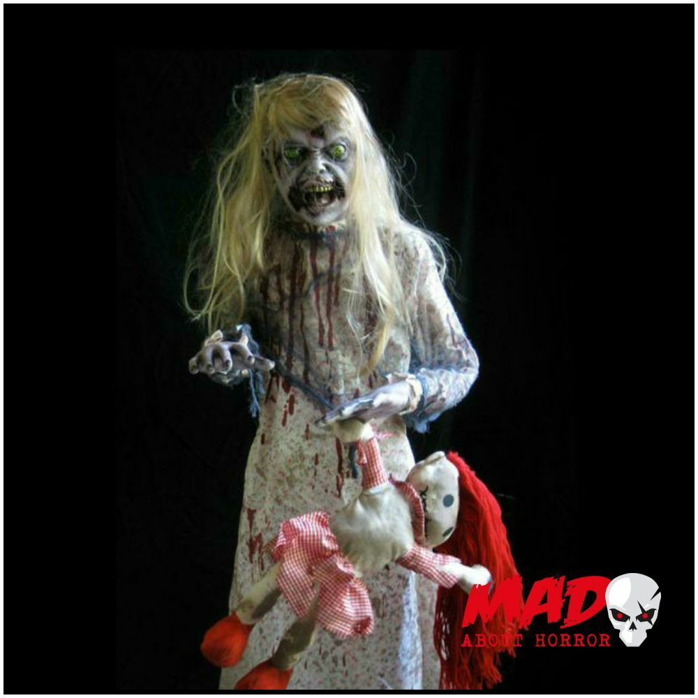 Haunted Doll ANIMATED Talking Figure Halloween Creepy