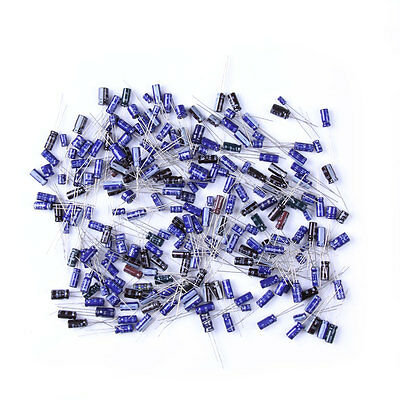 210Pcs 25 Value 0.1uF-220uF Electrolytic Capacitors Assortment Kit Set