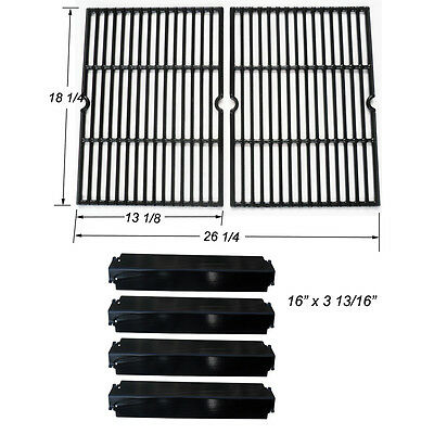 (Charbroil Grill Rebuild Kit Replacement Cooking Grill Grates and Heat Plates)