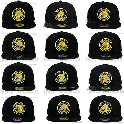 MEXICAN hat Snapback MEXICO Federal Logo State Embroidered Cotton Baseball cap