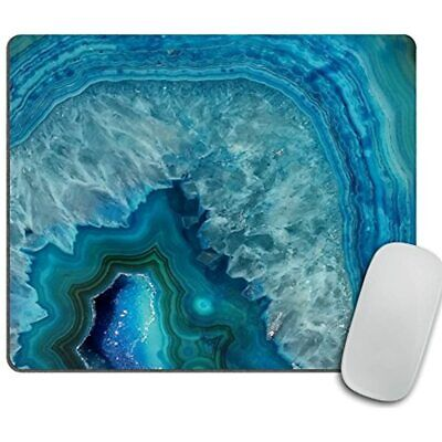Bright Aqua Blue Turquoise Geode Mineral Stone Mouse Pad, Mousepad Office