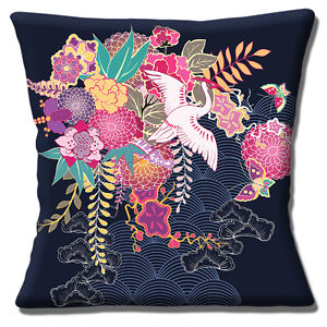 JAPANESE ORIENTAL ASIAN CRANE GARDEN SCENE FLOWERS 16
