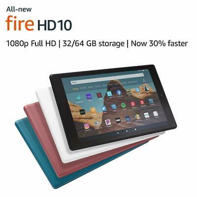 "2019 Kindle Fire HD 10 9th Gen Tablet (10.1"" 1080p HD) W/offers - 64 GB - Black"