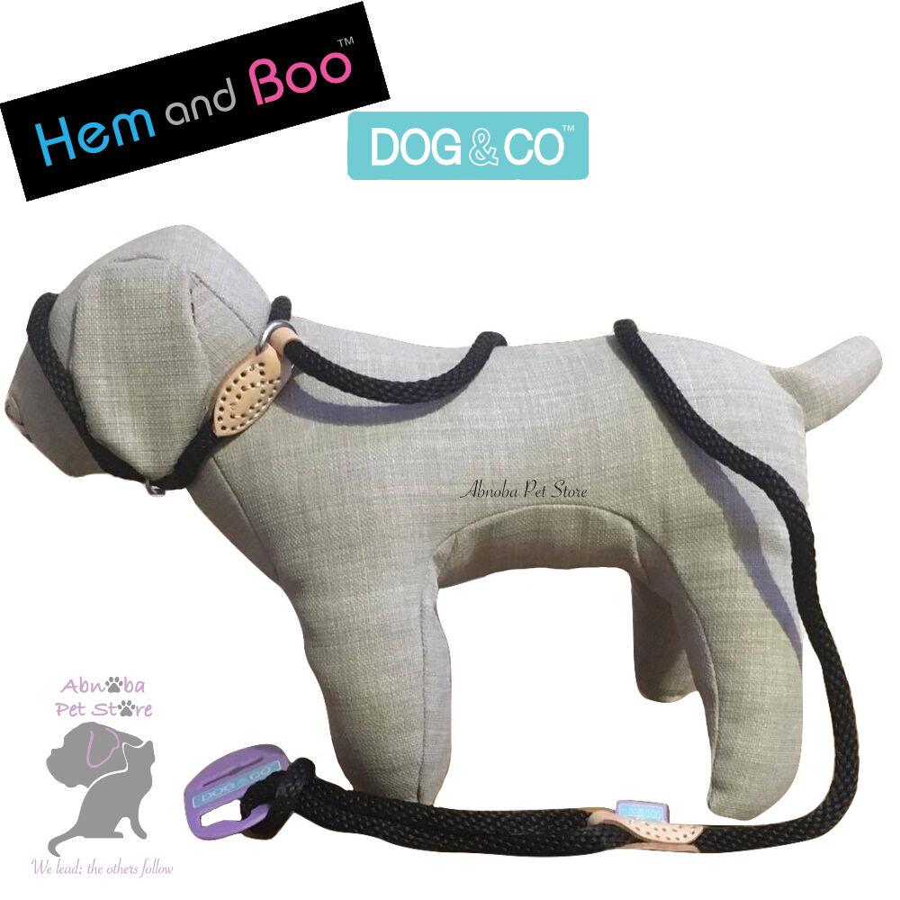 Hem /& boo Rosa Perro /& Co Tacto Suave Cuerda collar de plomo en 1 figura 8 Halter opción