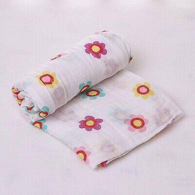 100% Organic Cotton Muslin Swaddle Blanket - New Design, Best Baby Shower