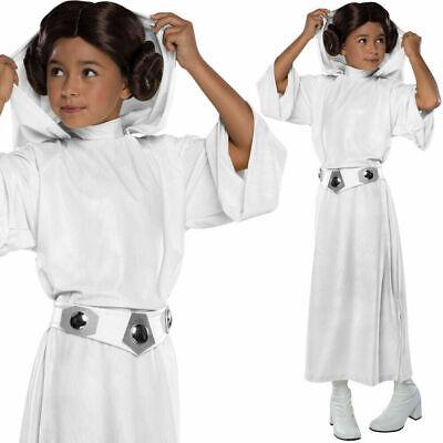 Mädchen Prinzessin Leia Kostüm Offiziell Deluxe Star Wars Kostüm Kinder