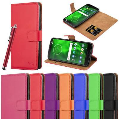 For Motorola Moto G6 Play Phone Case Leather Magnetic Flip Wallet Stand Cover
