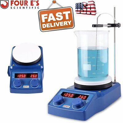 Four Es 5 Inch Led Digital Hotplate Magnetic Stirrer Scientific Lab W Us Plug