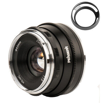 Pergear 25mm F1.8 Manual Focus Prime Fixed Lens for Fujifilm X-A1 X-A10 X-A2
