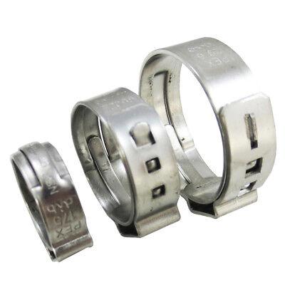 100 Pcs 12 Pex Stainless Steel Clamps Cinch Pinch Rings Nsf - Pex Guy