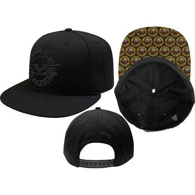 Guns N' Roses Circle Logo Official Mens Black Baseball Cap One Size Snap Back