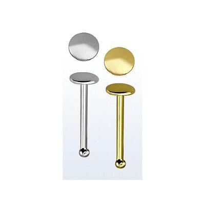 Langen Nase (Nasenstecker 925er Silber/Silber-Gold Rosegold beschichtet Nosebone 7 mm Lang)