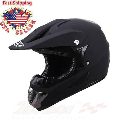 Black Adult Saftey Helmet Motocross ATV Dirt Bike Mountain Cycling Off-Road (Atv Off Road Helmet)