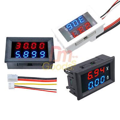 34 Bits Dc 100v200v Voltmeter Ammeter Dual Led 10a50a Digital Volt Amp Meter