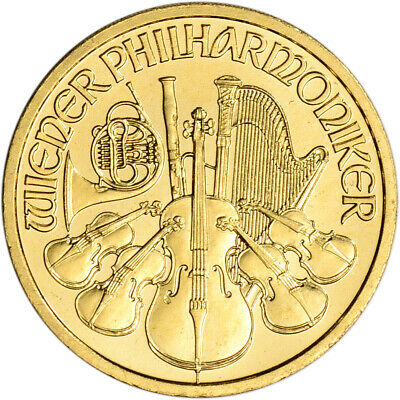 Austria Gold Philharmonic (1/10 oz) - BU - Random Date