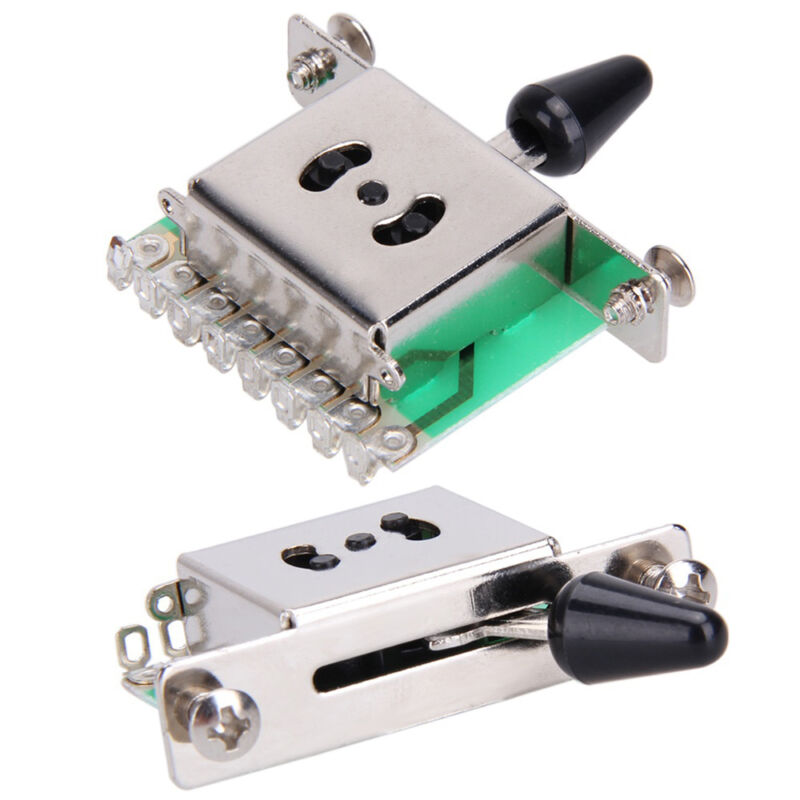 Black 3 Way Pickup Switch Selector For ST SQ Electric Guitar Replacement Parts as described