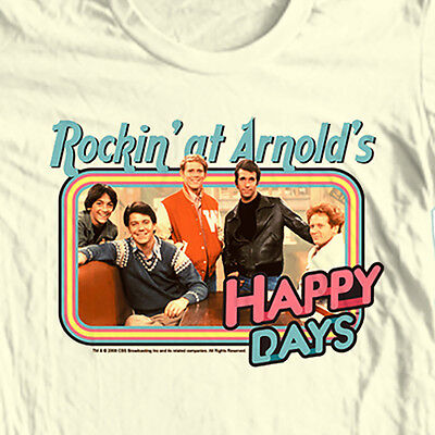 Happy Days T-shirt Rocking at Arnolds Fonzie retro 70's 80's cotton graphic tee - Happy Days T-shirt