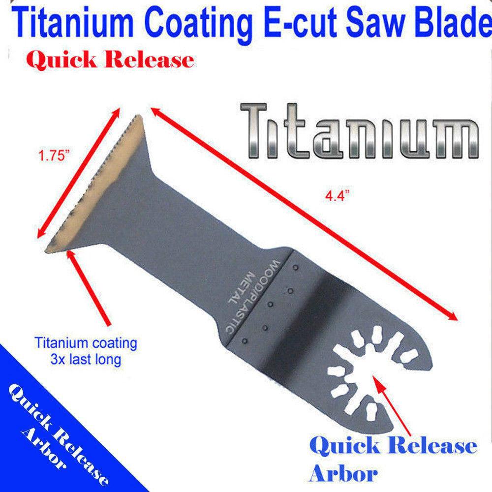 4 Titanium Saw Blade Oscillating Multi Tool Fein Bosch Makita Dewalt Ridgid Skil