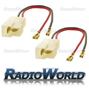 Speaker Adaptor Lead Loom Plug Ford KA / Mondeo / Fiesta / Puma PC2-802 Pair