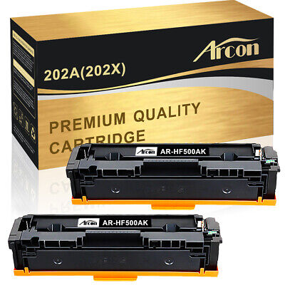 2 Pack Toner Fits 202A CF500A for HP LaserJet MFP M281fdw M281cdw M254dw (Fits Hp Laserjet)