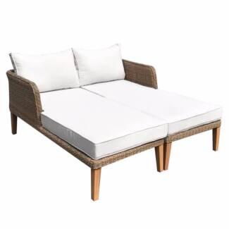 Luxo Saona PE Wicker Outdoor Daybed With Teak Legs. $599.00. Seven Hills Part 44