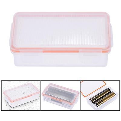 Hard Plastic Case Waterproof 2*18650/4*CR123A Battery Holder Storage Box HM U1J2