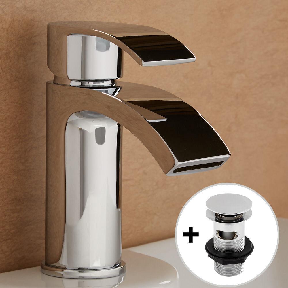 Maestro bath slide front page - Chrome Tap Bathroom Square Brass Mono Sink Single Mixer Solid Modern Basin Waste