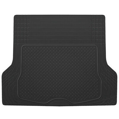 All Weather Cargo Trunk Car Floor Mats Heavy Duty Rubber Liner Sedan Truck SUV