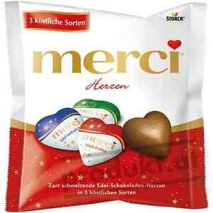 Merci Schokolade Mix Herzen, 100-g-Beutel