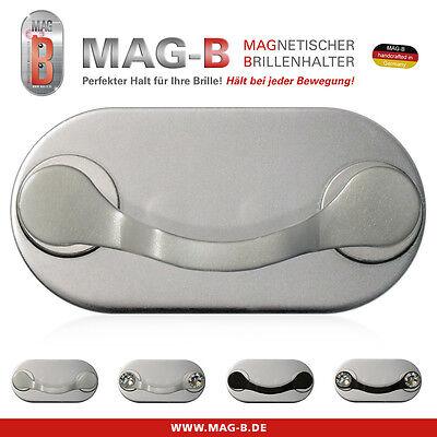 MAG-B magnetischer Brillenhalter (Edelstahl poliert) Magnet Kleidung