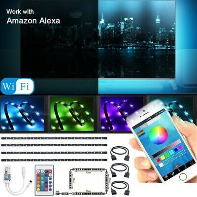 6.6FT 5V USB LED Strip Lights WIFI TV Back Light 5050 RGB for Alexa Google Home
