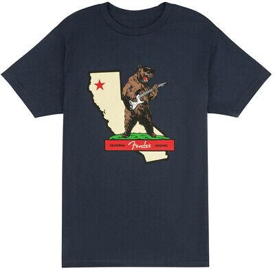 Fender Guitars & Amps Rocks Cali T-Shirt, Navy, L Large