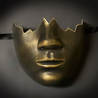 Black & Gold Masquerade Mask, Venetian Cosplay Costume Party Mask (M0016)