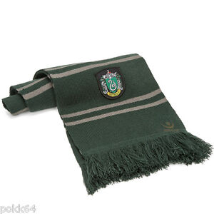 HARRY POTTER scarf la Maison Slytherin Green Grey badge Slytherin 560585
