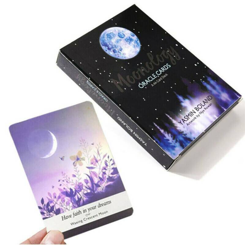 A 44-Card Deck English Practical Kits Tarot Cards Moonology Energy Oracle Cards