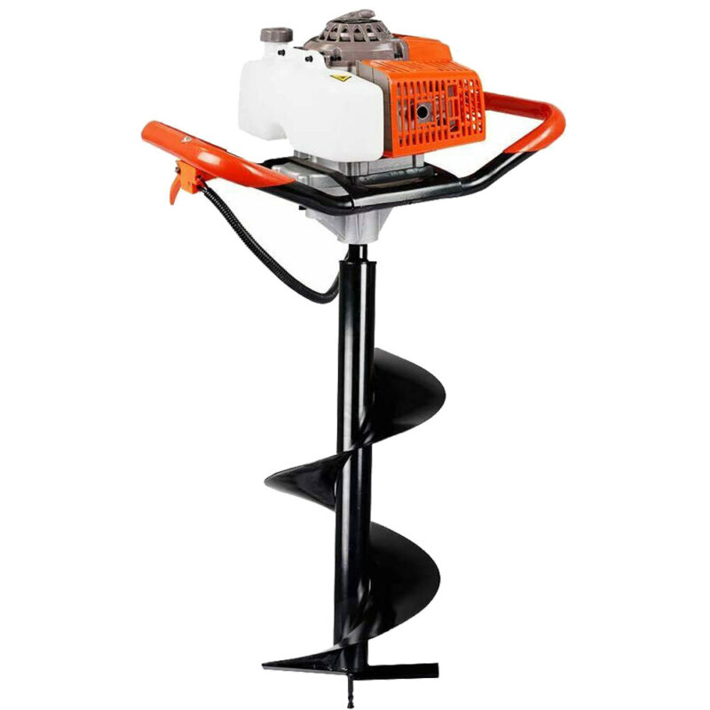 """63cc 3.4HP Gas Powered Earth Burrowing Auger Engine Post  Hole Digger+ 12"""" Bit"""