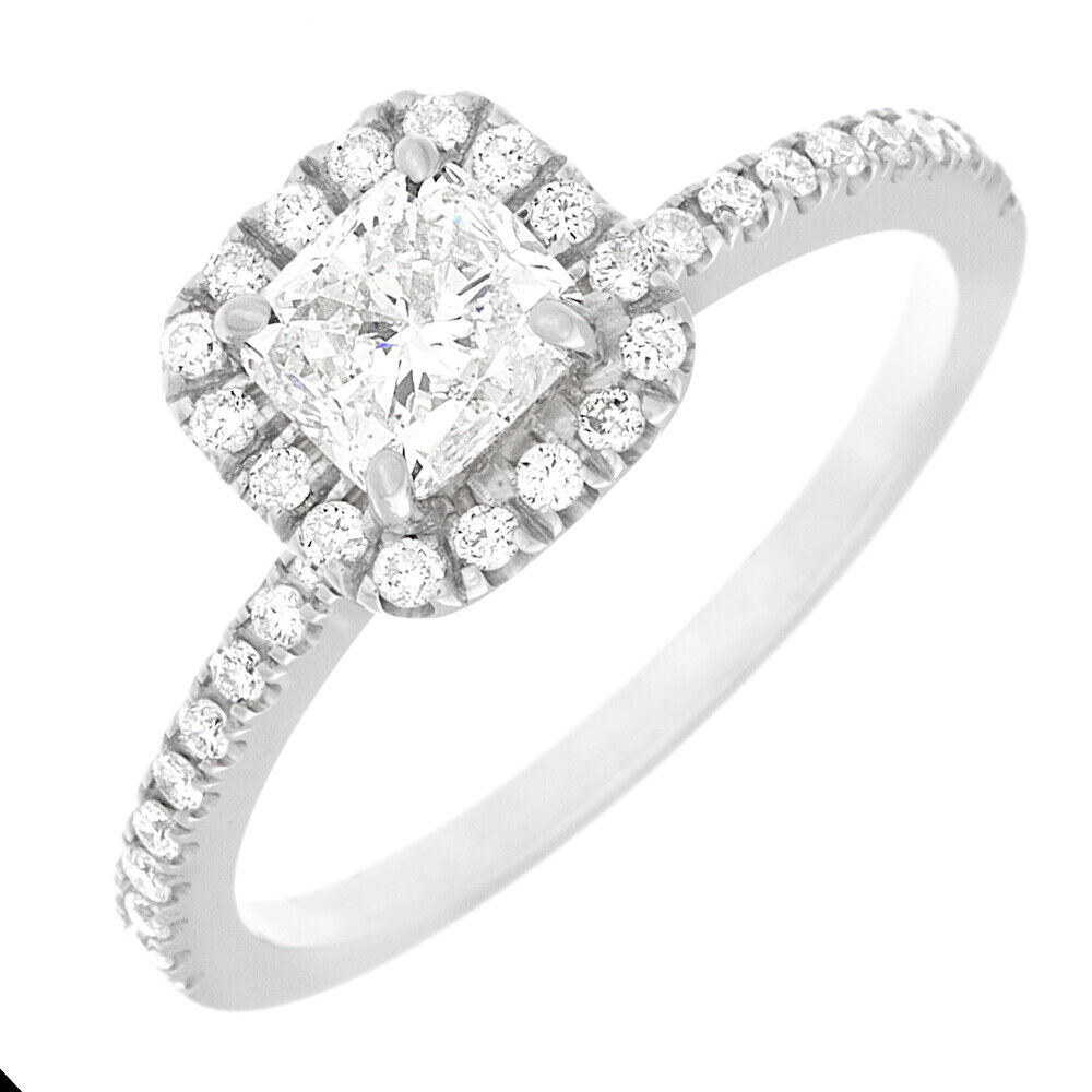 Flawless GIA Certified Cushion Cut Diamond Engagement Ring Platinum 1.58 CTW